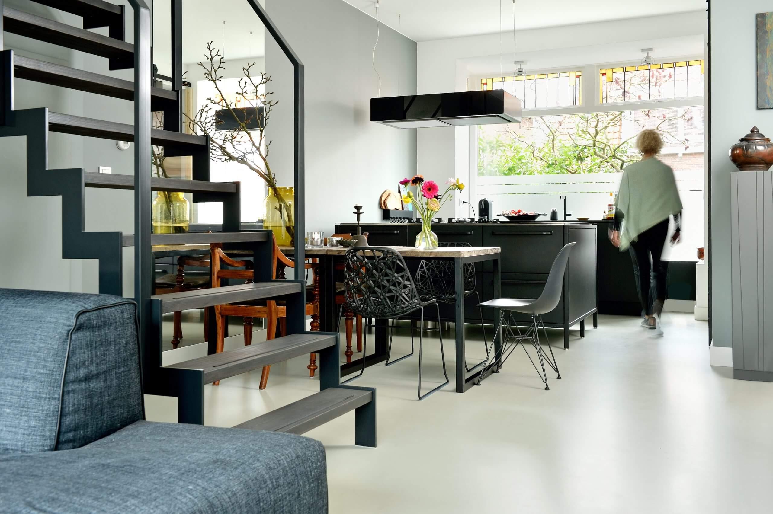 buitenkeuken met betonvloer