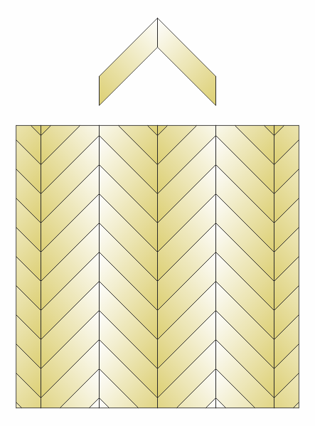 Hongaarse punt patroon 45 graden