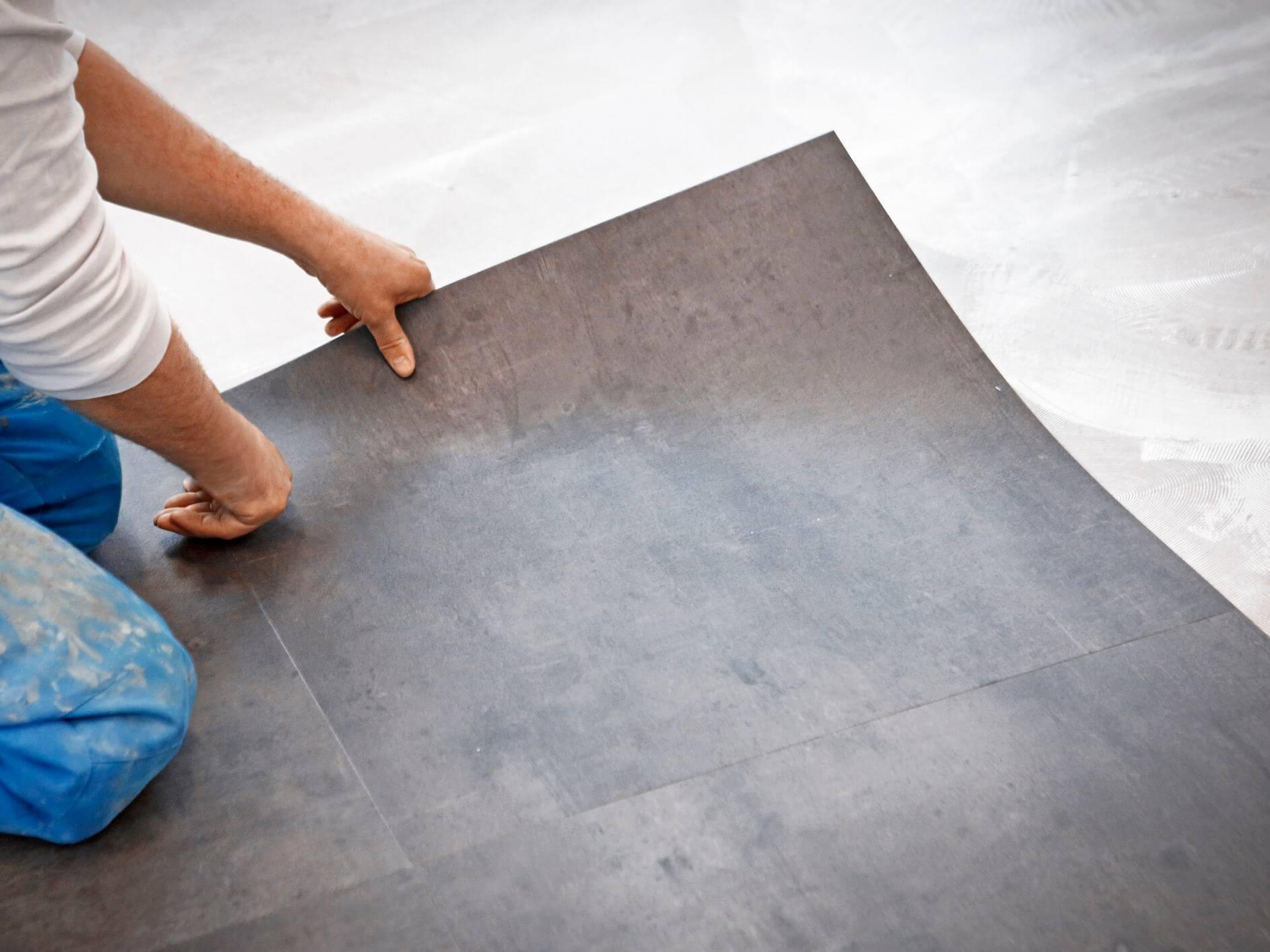 linoleum betonlook vloer
